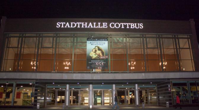 Auftritt in der Stadthalle Cottbus am 26.10.2013