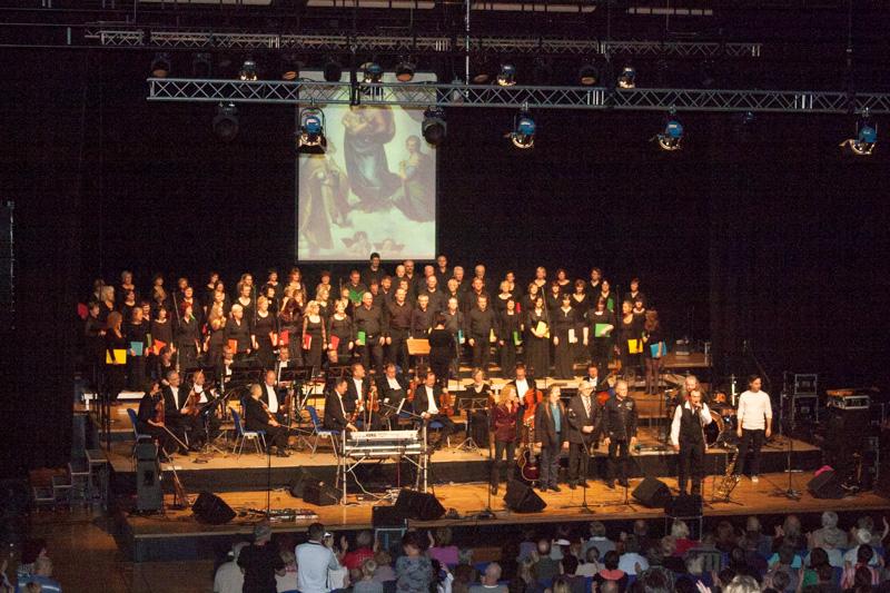Unser Chor am 26.10.2013 in der Stadthalle Cottbus mit electra Klassik
