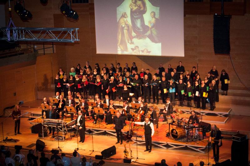 Auftritt des Chors mit lectra Klassik am 04.05.2013 in der Händelhalle Halle/Saale