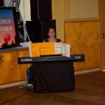 Christiane Weber begrüßte die Gäste musikalisch