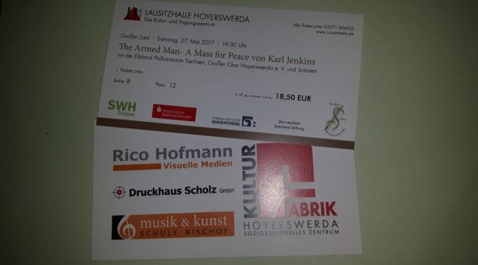 Kartenkauf für die Friedensmesse jetzt auch online möglich